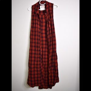Mossimo plaid dress size xxl